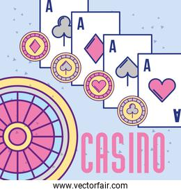 casino roulette aces poker cards and chips