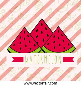 striped background with delicious fresh nature watermelon