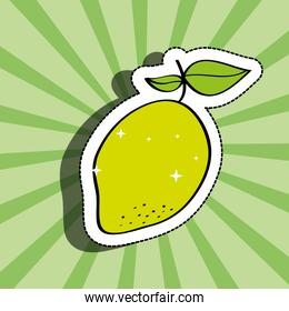 fresh lemon delicious fruit drawing sticker image