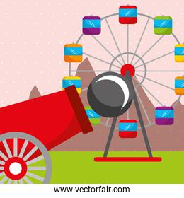 cannon ferris wheel carnival fun fair festival