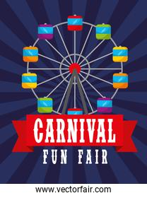 ferris wheel retro poster carnival fun fair