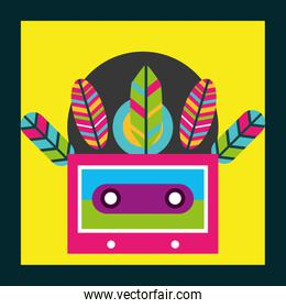 musical cassette feathers free spirit