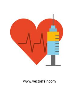 healthcare medical heartbeat syringe