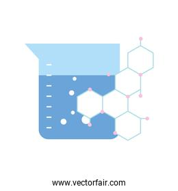 chemical flask and molecule science
