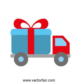 online shopping logistic truck delivery gift