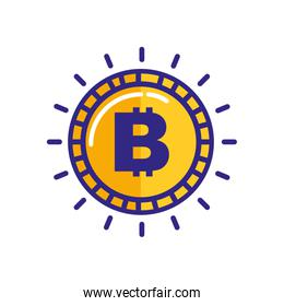golden bitcoin money cryptocurrency isolated icon