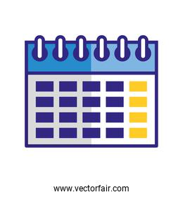 calendar date reminder plan isolated image
