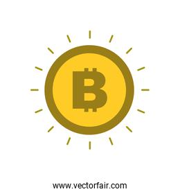 golden bitcoin money virtual cryptocurrency