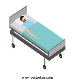 patient in the bed medical healthcare