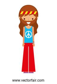 hippie cartoon character