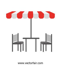 tent table chairs