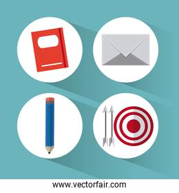 Business and office icons design