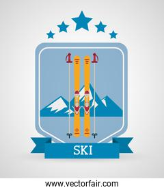 Winter sport icons design