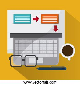 strategy and office icons design
