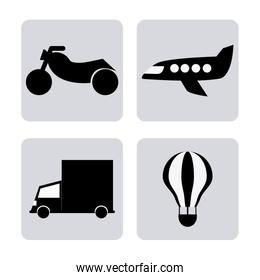 Transportation  icon design