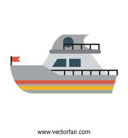 ship sideview with flag icon image