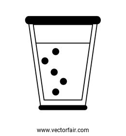 glass cup with sparkly beverage icon image