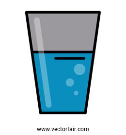 glass cup with water icon image