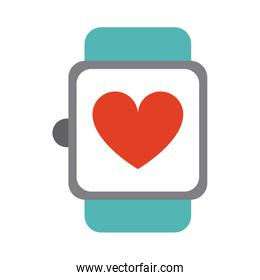 heart rate wrist monitor icon image