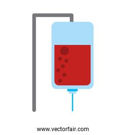 iv bag with blood icon image