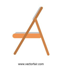 wooden folding chair icon image