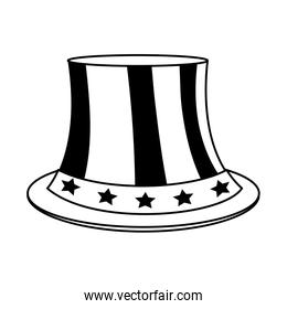 uncle sam top hat with flag united states usa icon image