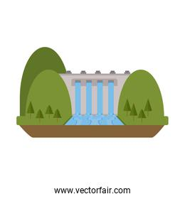 hydroelectric plant surrounded by trees icon image