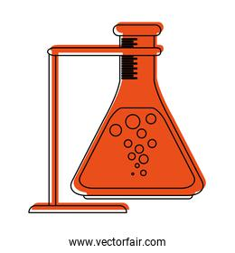 test tube or flask icon image
