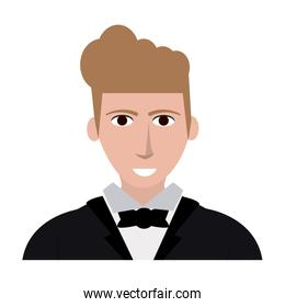 handsome young man in suit icon image