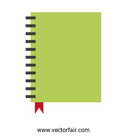 wired closed notebook icon image
