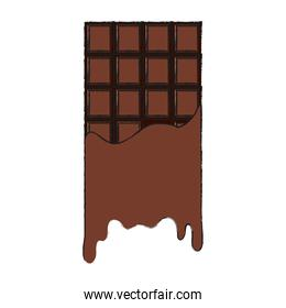 Isolated chocolate bar design