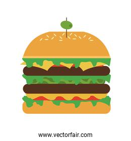 hamburger with olive on top icon image