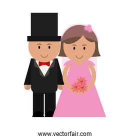 cute groom and bride icon image