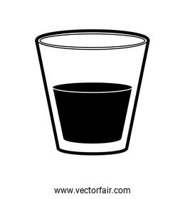 cup of glass with beverage icon image