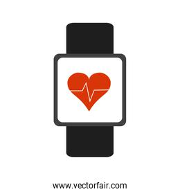 heart rate wrist monitor fitness band icon image