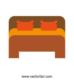 bed frontview icon image