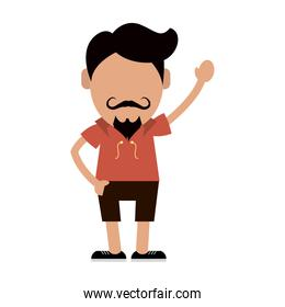 hipster man avatar icon image