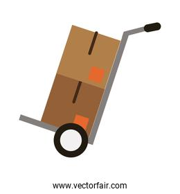 cardboard boxes icon image