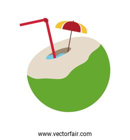 coconut cocktail tropical icon image