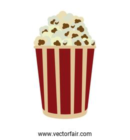 popcorn in striped bucket icon image