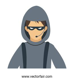 male hacker avatar icon image