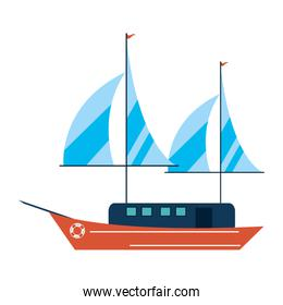 ship with sails icon image