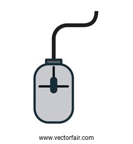 mouse with cord computer icon image