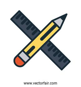 pencil and ruler icon image
