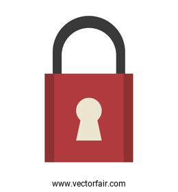 safety lock with keyhole on front icon image