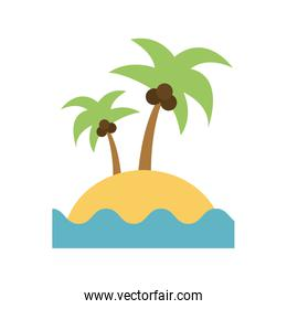 island with palm tree and sea icon image