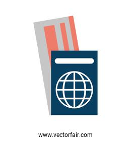 passport with tickets icon image