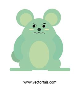 cute grumpy mouse icon image