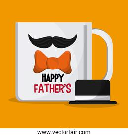 Fathers day design, vector illustration