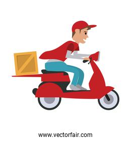 man making delivery on scooter